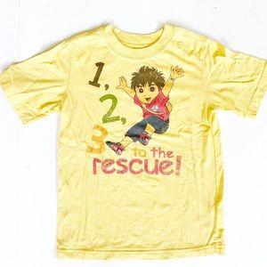 5/$25 Gap kids Go Diego Go yellow T-shirt top